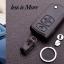 ซองหนังแท้ใส่กุญแจรีโมทรถยนต์ Mazda 2 แบบพับข้าง รุ่น 3 ปุ่มกด สีดำคลาสสิก thumbnail 2