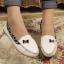 รองเท้าส้นแบบส้นเตี้ยผู้หญิง ขอบลายเสือดาว (Pre) thumbnail 4