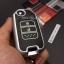 กรอบ-เคส ใส่กุญแจรีโมทรถยนต์ รุ่นเรืองแสง Honda Jazz 2014-2015 พับข้าง 2 ปุ่ม thumbnail 14