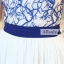 ชุดเดรสยาวสวยหรู โทนสีน้ำเงินขาว ปักลายสวยเก๋ เอวคาด กระโปรงสีขาวผ้าชีฟอง thumbnail 14