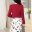 ชุดทำงานแฟชั่นเกาหลีสวยๆ มินิเดรสกระโปรงสั้น ชุดเซ็ท 2 ชิ้น ชุดเดรสสั้นพิม์ลายน่ารักๆ + เสื้อคลุมเก๋ๆ สีเบจ( M L XL XXL ) thumbnail 8
