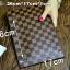 กระเป๋าสตางค์แบบซิบหน้าล๊อก/กระเป๋าคลัทช์ Louis Vuitton ลายตาราง ขนาดใหญ่ (Pre) thumbnail 3