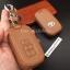 ซองหนังแท้ ใส่กุญแจรีโมทรถยนต์ รุ่นโลโก้เหล็ก Toyota Harrier Smart Key 3 ปุ่ม thumbnail 6