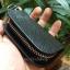 กระเป๋าซองหนังแท้ ใส่กุญแจรีโมทรถยนต์ รุ่นซิบรอบ โลโก้ Mercedes Benz หนัง Cowhide thumbnail 12