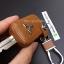 ซองหนังแท้ ใส่กุญแจรีโมทรถยนต์ รุ่นดอกกุญแจ โลโก้เหล็ก Mitsubishi Attrage,Triton แบบใหม่ thumbnail 11
