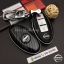 New กรอบ_เคส ใส่กุญแจรีโมทรถยนต์ Nissan March,X-Trail,Navara,Juke,Pulsar Smart Key 3 ลายเคฟล่า thumbnail 1