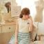 ชุดเดรสแฟชั่นเกาหลี ชุดเดรสแฟชั่นน่ารัก ชุดเดรสสั้น ชุดเดรสสวย ๆ ชุดเดรสแนววินเทจ เสื้อคอกลมแขนกุด ต่อด้วยกระโปรงลายขวาง ( S,M,L ) thumbnail 6