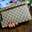 กระเป๋าสตางค์แบบซิบหน้าล๊อก/กระเป๋าคลัทช์ Louis Vuitton ลายตาราง ขนาดใหญ่ (Pre) thumbnail 5