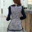 ชุดเดรสทำงานแฟชั่นเกาหลี ชุดแซกกระโปรงสั้น สีกรมท่า คอแต่งโบว์น่ารักๆ แขนยาว เป็นชุดทำงานออฟฟิศ(บริษัท),คุณครู,ราชการ แบบสวยๆ เรียบร้อยดูดี ( M,L,XL,XXL) thumbnail 2