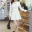 ชุดเดรสสั้นแฟชั่นเกาหลี มินิเดรสสั้นสีขาว คอปักมุก แขนยาว เป็นชุดเดรสสวยๆ แนวหวานน่ารัก เรียบร้อย ดูดี สามารถใส่ออกงานได้ ( M L XL ) thumbnail 7