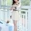 ชุดเดรสทำงานสวยๆสไตล์แฟชั่นเกาหลี สีเบจ คอกลมลายสก๊อต แขนยาว เป็นชุดทำงานออฟฟิศ(บริษัท),คุณครู,ราชการ ให้ลุคสวยหวาน น่ารักๆ ดูเรียบร้อย ( M L XL ) thumbnail 4