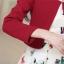 ชุดทำงานแฟชั่นเกาหลีสวยๆ มินิเดรสกระโปรงสั้น ชุดเซ็ท 2 ชิ้น ชุดเดรสสั้นพิม์ลายน่ารักๆ + เสื้อคลุมเก๋ๆ สีเบจ( M L XL XXL ) thumbnail 11