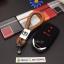 ปลอกซิลิโคน หุ้มกุญแจรีโมทรถยนต์ All New Honda CR-V G5 2017 Smart Key 3 ปุ่ม สี ดำ/แดง thumbnail 10