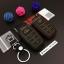 ซองหนังแท้ ใส่กุญแจรีโมทรถยนต์ Toyota Hilux Revo Smat Key 3 ปุ่ม รุ่นด้ายสี thumbnail 9