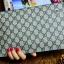 กระเป๋าสตางค์แบบซิบหน้าล๊อก/กระเป๋าคลัทช์ Louis Vuitton ลายตาราง ขนาดใหญ่ (Pre) thumbnail 9