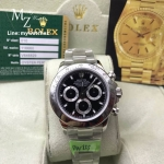 Rolex Cosmograph Daytona Stainless Black Dial 116520 - Swiss Grade
