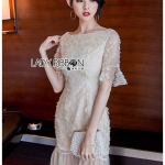 🎀 Lady Ribbon's Made 🎀Lady Ivy Dreamy Flower Embroidered Tulle Dress