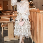 Seoul Secret Say's... Princess Flora Curvle Skirt Lace Blouse Set