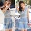Lady Ribbon Korea เสื้อผ้าเกาหลี ของแท้พร้อมส่ง Lady Ribbon Dress LR10250716 &#x1F380 Lady Ribbon's Made &#x1F380 Lady Ariana Sweet Feminine White and Blue Lace Dress เดรสผ้าลูกไม้สีฟ้า thumbnail 3