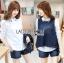 Lady Ribbon Korea LR14230516 &#x1F380 Lady Ribbon's Made &#x1F380 Lady Trixie Smart Casual Denim Set thumbnail 2
