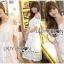 Lady Ribbon Korea Dress Lady Ribbon Korea LR23190516 &#x1F380 Lady Ribbon's Made &#x1F380 Lady Amanda Pretty Sweet Off-Shoulder Lace Dress เดรสผ้าลูกไม้ thumbnail 1