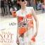 Lady Ribbon's Made &#x1F380 Lady Kimberley Smart Casual Holiday Orange Flower Printed Chiffon thumbnail 8