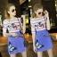 Lady Ribbon Korea Closet SW12060616 Sweet Bunny Present... Butterfly Stripe Print Dress thumbnail 1