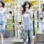 Lady Ribbon Closet Design Seoul Secret Say's... Nifty Softly Blue Denim Set thumbnail 1