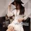 Lady Ribbon Dress LR03300516 &#x1F380 Lady Ribbon's Made &#x1F380 Lady Eva Classic White Polyester and Lace Ruffle Dress thumbnail 4
