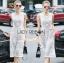 Lady Ribbon เสื้อผ้าเกาหลี LR06110716 &#x1F380 Lady Ribbon's Made &#x1F380 Lady Katy Smart Casual White Guipure Lace Jumpsuit thumbnail 1