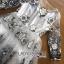 Lady Ribbon Korea Dress LR01200616 &#x1F380 Lady Ribbon's Made &#x1F380 Lady Gabby Elegant Monochrome Floral Embroidered Satin and Tulle Dress thumbnail 4