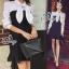 Lady Ribbon Korea Brand SV13060616 Cool Item-Restock &#x1F389Sevy Ribbon Neck Long Sleeve Contrast Bust Mini Dress thumbnail 4