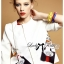 Lady Ribbon's Made &#x1F380 Lady Julianna Sassy Embellished Surreal Print Blouse thumbnail 6