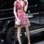 Lady Ribbon Korea Cutting LV10200616 &#x1F36DKorea Clo By Lavida golden shiny embroidery romany printed luxury dress thumbnail 2