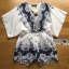 Lady Ribbon Kiorea Mini Dress LR02060616 &#x1F380 Lady Ribbon's Made &#x1F380 Lady Paulie Floral Embroidered Cotton Kaftan Playsuit thumbnail 5