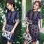 Lady Ribbon Korea Dress LR12200616 &#x1F380 Lady Ribbon's Made &#x1F380 Self-Portrait Louisa Guipure Lace Dress เดรสผ้าลูกไม้สีกรมท่า thumbnail 3