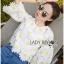 Lady Ribbon KOrea Dress &#x1F380 Lady Ribbon's Made &#x1F380 Lady Jessica Little Daisy Sunshine White and Yellow Floral Cropped Top thumbnail 4
