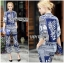 Lady Ribbon Korea Closet LR17010816 &#x1F380 Lady Ribbon's Made &#x1F380 Lady Natalia Street Chic Floral Mixed Print Satin Set เ thumbnail 4