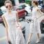Lady Ribbon เสื้อผ้าเกาหลี LR06110716 &#x1F380 Lady Ribbon's Made &#x1F380 Lady Katy Smart Casual White Guipure Lace Jumpsuit thumbnail 2