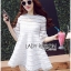 : Lady Ribbon Korea LB10160516 &#x1F380 Lady Ribbon's Made &#x1F380 Lady Jessica Sweet and Pretty Embroidered Striped White Dress เดรสสีขาว thumbnail 4