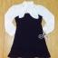 Lady Ribbon Korea Brand SV13060616 Cool Item-Restock &#x1F389Sevy Ribbon Neck Long Sleeve Contrast Bust Mini Dress thumbnail 5