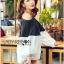 Lady Ribbon Korea Dress Korea Shop LR03390616 &#x1F380 Lady Ribbon's Made &#x1F380 Lady Stella Minimal Monochrome Off-Shoulder Cotton Long Shop thumbnail 1