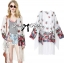 Lady Ribbon's Made &#x1F380 Lady Ria Hippy Floral Printed Fringe Outerwear thumbnail 1