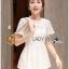 Lady Ribbon Korea LR01300516 &#x1F380 Lady Ribbon's Made &#x1F380 Lady Laurel Classic Sweet Lace Peplum Top and Short Ensemble Set thumbnail 3