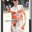Lady Ribbon's Made &#x1F380 Lady Kimberley Smart Casual Holiday Orange Flower Printed Chiffon thumbnail 5