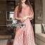 Lady Ribbon เสื้อผ้าเกาหลี LR12110716 &#x1F380 Lady Ribbon's Made &#x1F380 Lady Charlotte Pinky Feminine Hearty Embroidered cloSet เ thumbnail 2