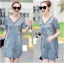 Lady Ribbon's Made &#x1F380 Lady Laura Sext Casual Deep V-Neck Denim Dress thumbnail 1