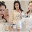 Lady Ribbon Dress Lady Ribbon Korea LR20190516 &#x1F380 Lady Ribbon's Made &#x1F380 Lady Stephanie Little Sunshine White and Yellow Floral Cropped Top ลูกไม้ thumbnail 1