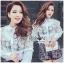 Lady Ribbon Korea Lace Cotton Dress Shirt เดรสเชิ้ตผ้าคอตตอน thumbnail 3