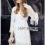 Lady Ribbon เสื้อผ้าเกาหลี LR03140716 &#x1F380 Lady Ribbon's Made &#x1F380 Lady Kate Modern Bohemian Fringed White Lace Dress เดรสผ้าลูกไม่ประดับพู่ thumbnail 2